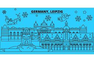 Germany, Leipzig winter holidays
