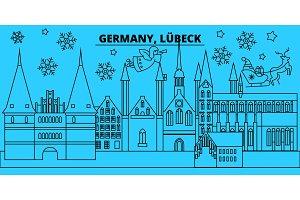 Germany, Lubeck winter holidays