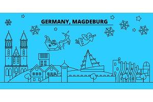 Germany, Magdeburg winter holidays
