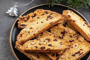 Traditional italian cookies biscotti
