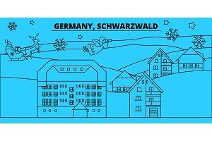 Germany, Schwarzwald winter holidays