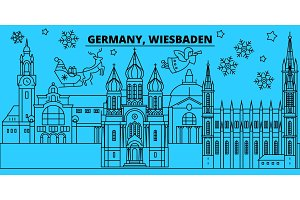 Germany, Wiesbaden winter holidays