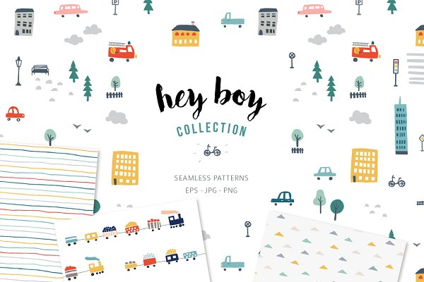 Graphic Patterns - Seamless patterns for boys