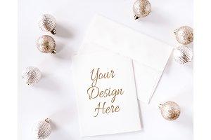 Christmas Ball Card Mockup