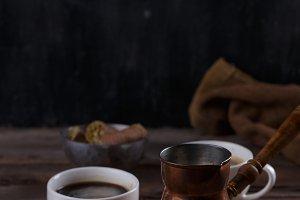 Traditional turkish coffee and