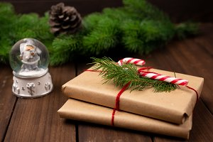Christmas gifts or present box