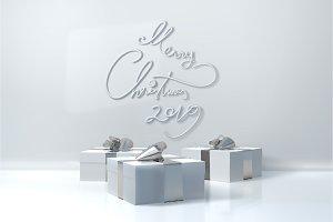 Merry Christmas 2019 lettering