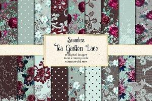 Tea Garden Lace Digital Paper