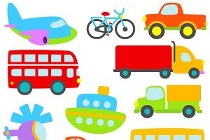 Transportation Vectors and Clipart