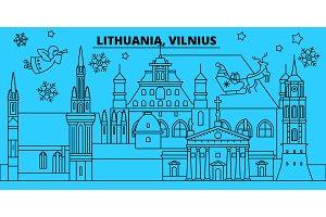 Lithuania, Vilnius winter holidays