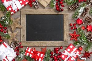 Christmas decoration chalkboard gift