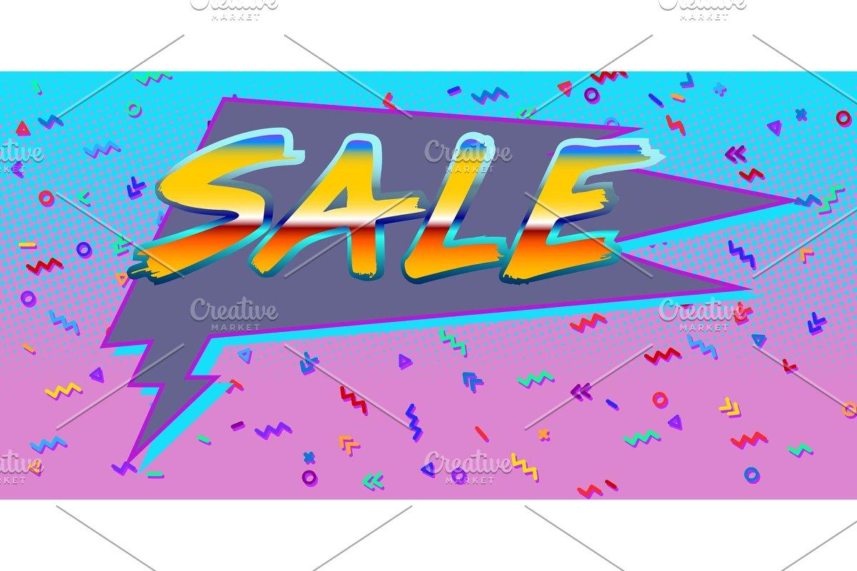 80s background  sale Comic bubble