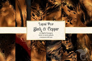 Liquid Pour Black and Copper