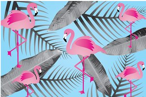 flamingo background vector