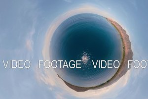 Seascape with beach vr360