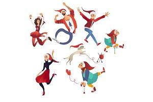 Vector illustration of happy