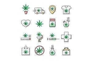 Vector cannabis in cross