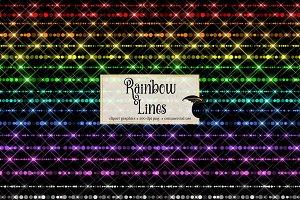 Sparkling Rainbow Lines Clipart