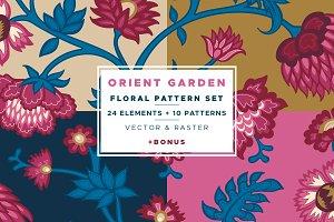 Orient Garden Floral Pattern Set