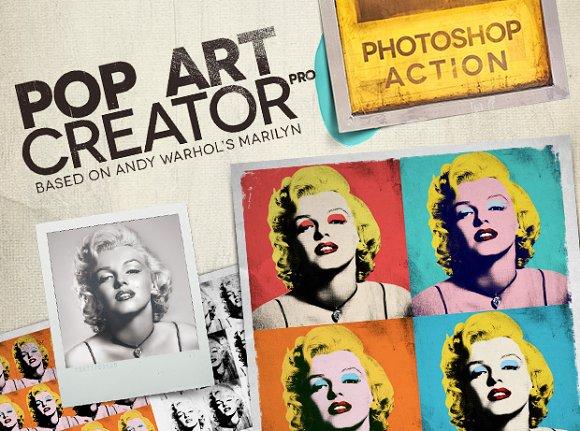 Pop Art Creator Pro Ps Action Actions Creative Market