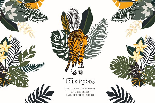 Illustrations and Illustration Products: Bloomart Webvilla - Tiger Moods