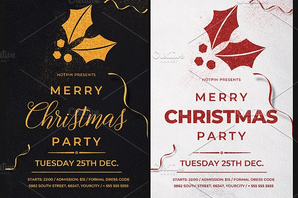 christmas flyer invitation invitation templates creative market