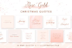 Rose Gold Christmas Quotes
