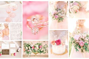 Feminine wedding details bundle