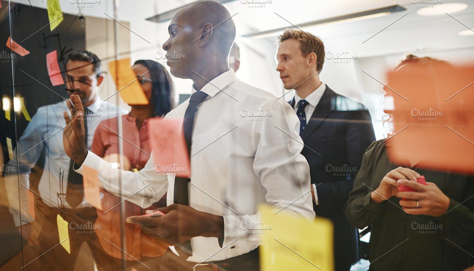 Diverse Office Colleagues Brainstorm