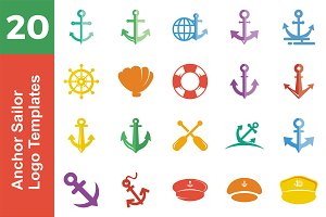 20 Logo Anchor Sailor Bundle