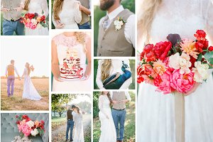 Farm wedding details bundle