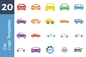 20 Logo Car Templates Bundle