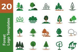 20 Logo Forest Templates Bundle