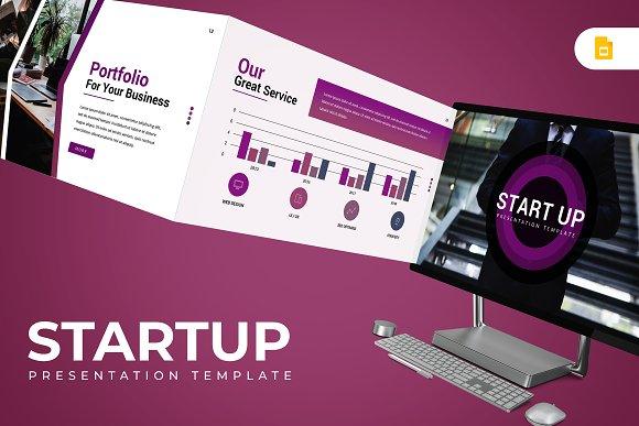 startup google slides template presentation templates creative
