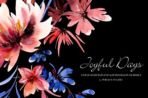 Flower Clip Art - Joyful Days