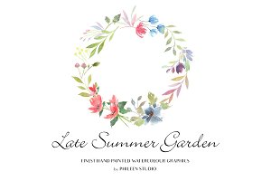 Flower Clip Art - Late Summer Garden