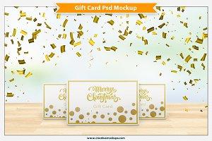 Gift Card Psd Mockup