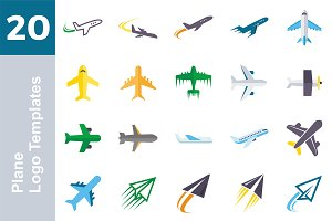 20 Logo Plane Templates Bundle