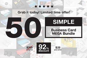 -90% ~ 50 Business Cards MEGA Bundle