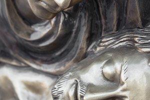 Bronze statue of Virgin and Jesus