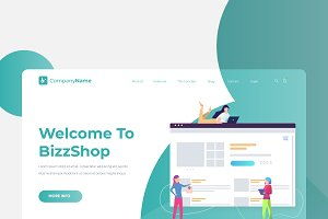 Shop - Banner & Landing Page