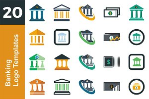 20 Logo Banking Templates Bundle