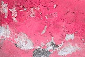 Old peeled fuchsia wall