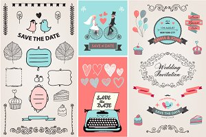 200 Wedding Design Elements Bundle