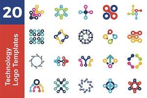 20 Logo Technology Template Bundle