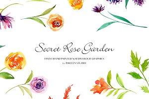 Flower Clip Art - Secret Rose Garden