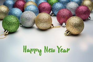Congratulations on Christmas balls.