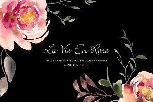 Flower Clip Art - La Vie En Rose