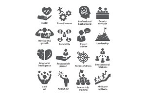 Business management icons Pack 46