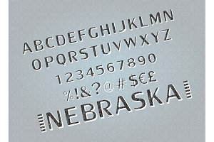 Vector of retro bold font